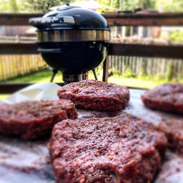 It's a Saturday Afternoon Charcoal BBQ. 🍔🔥♥️ #charcoal #bbq #hamburgers