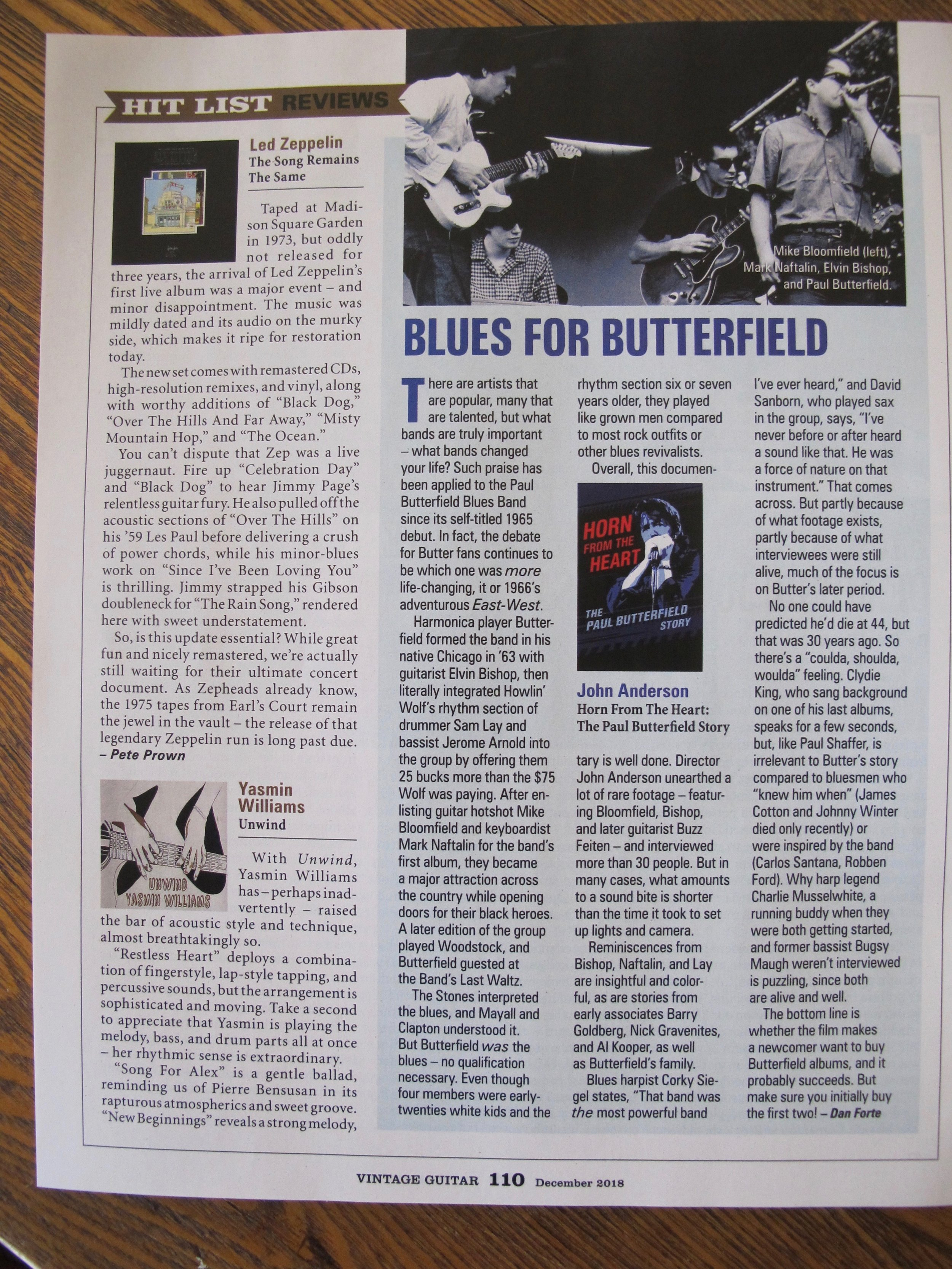Vintage Guitar Magazine - Check out my album in Vintage Guitar Magazine! Click the image to read the full review.