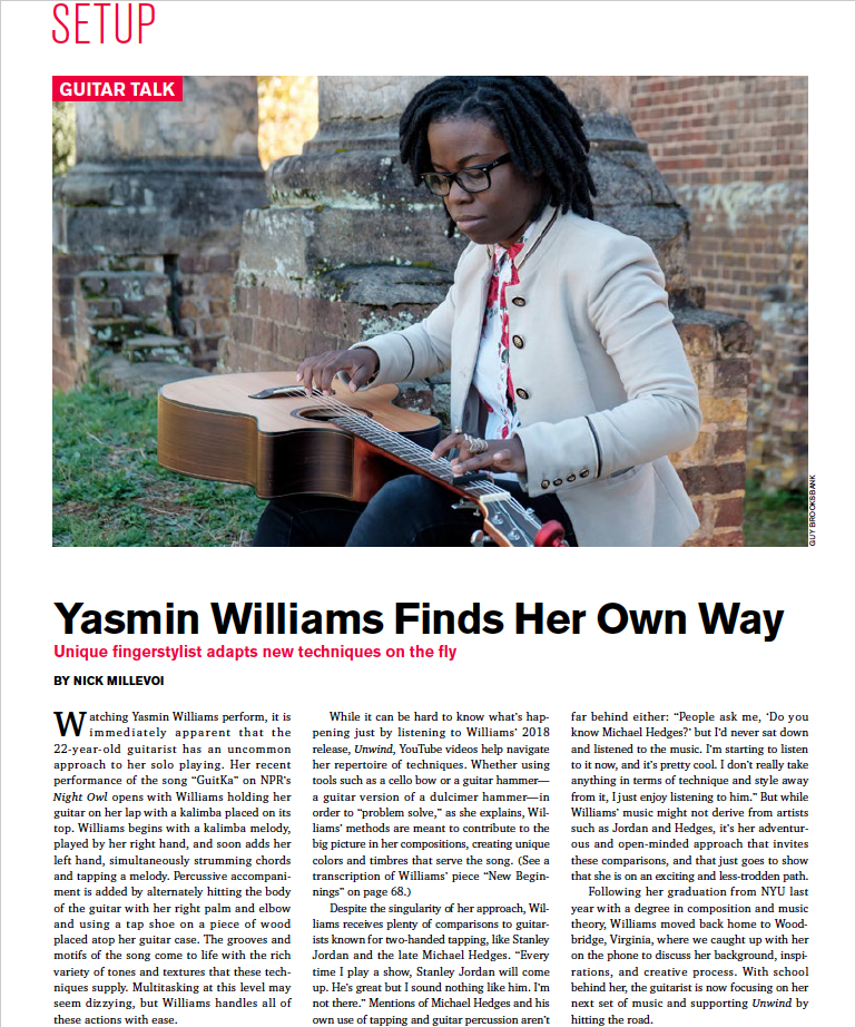Check out the world premiere of New Beginnings here! - acousticguitar.com/new-beginnings-a-contemplative-study-by-yasmin-williams/