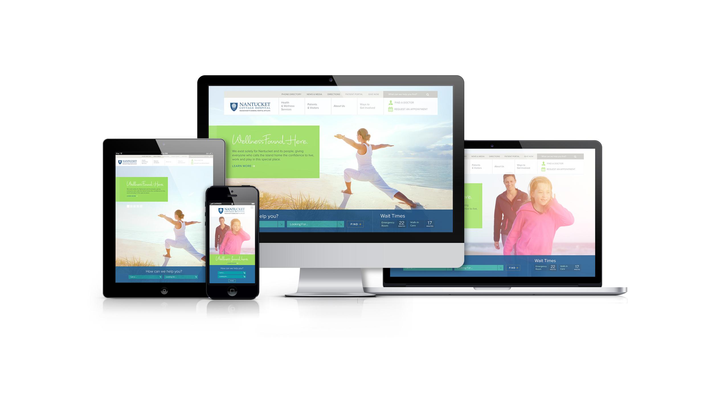 Responsive web site implementation