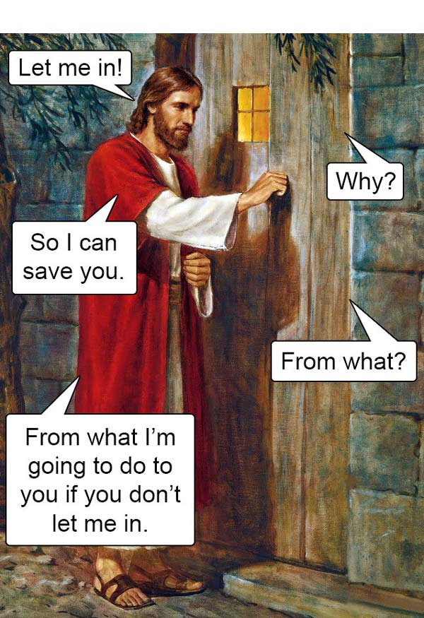 Jesus at the Door  by Del Parson (dialogue  not  included in the original)