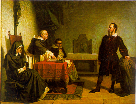 Galileo Facing the Roman Inquisition  (Cristiano Banti, 1857)
