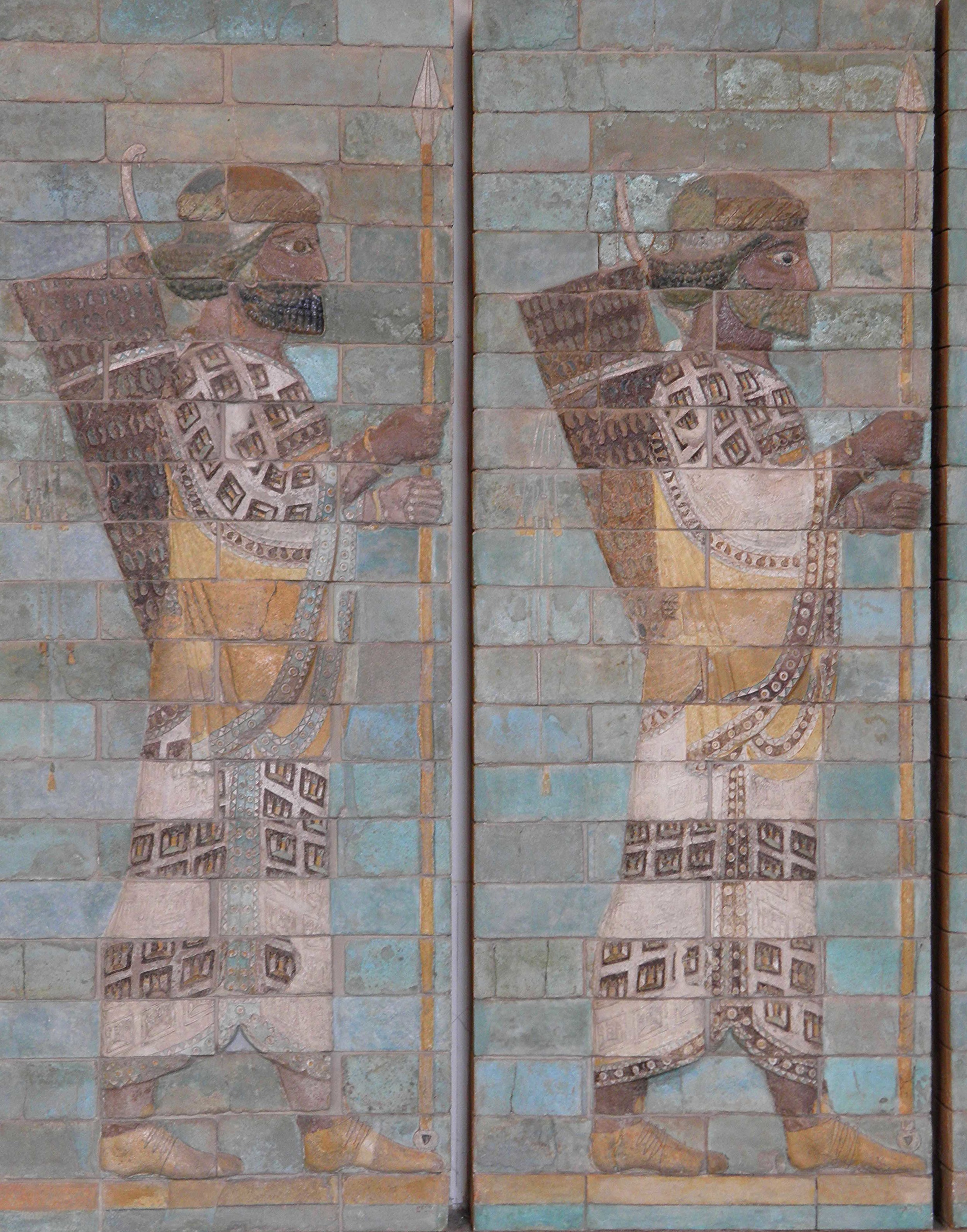 Frieze of Archers from the Palace of Darius I in Susa, Achaemenid Persian period ...
