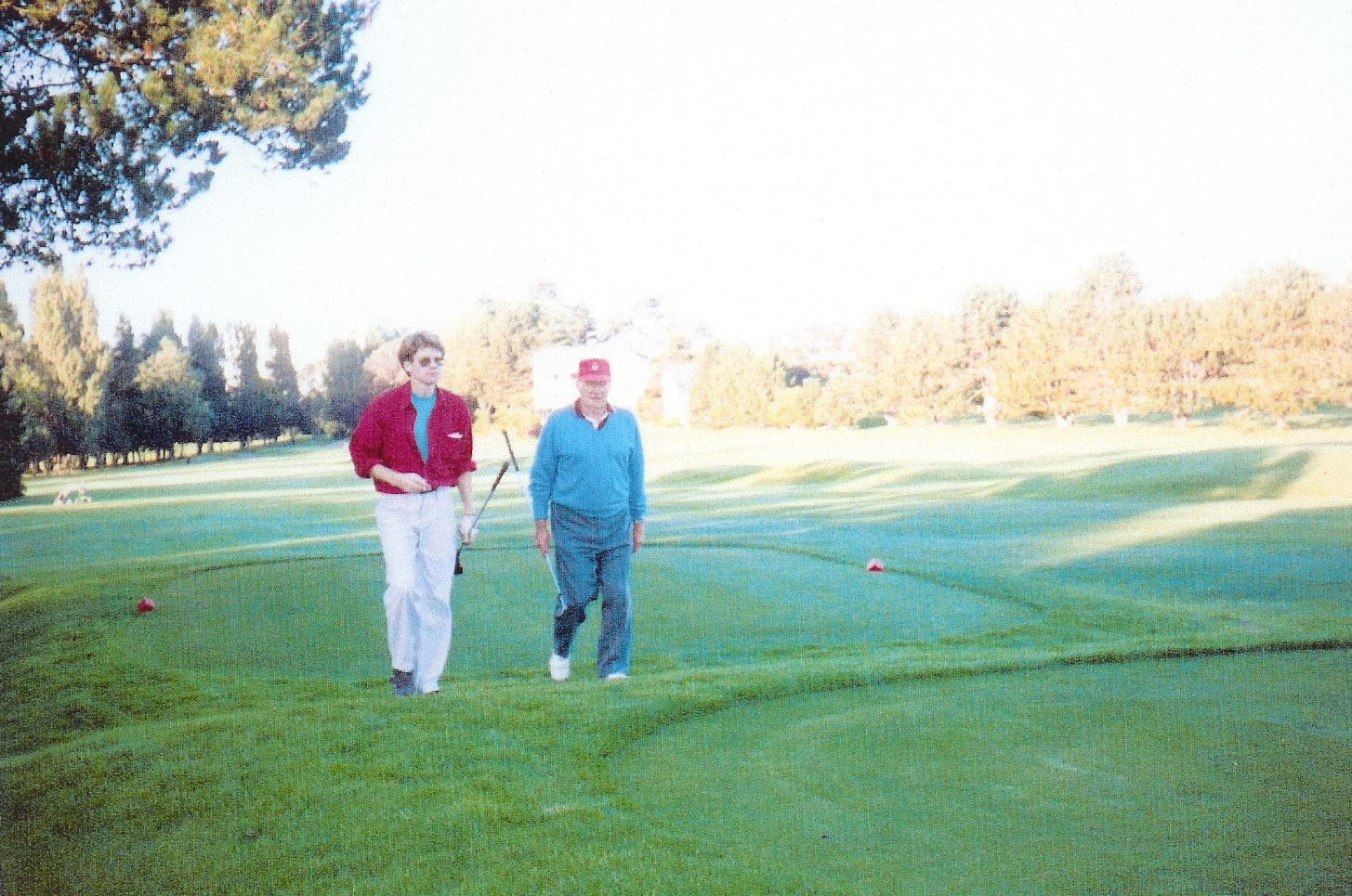 Dad and I at the Victoria Golf Club.