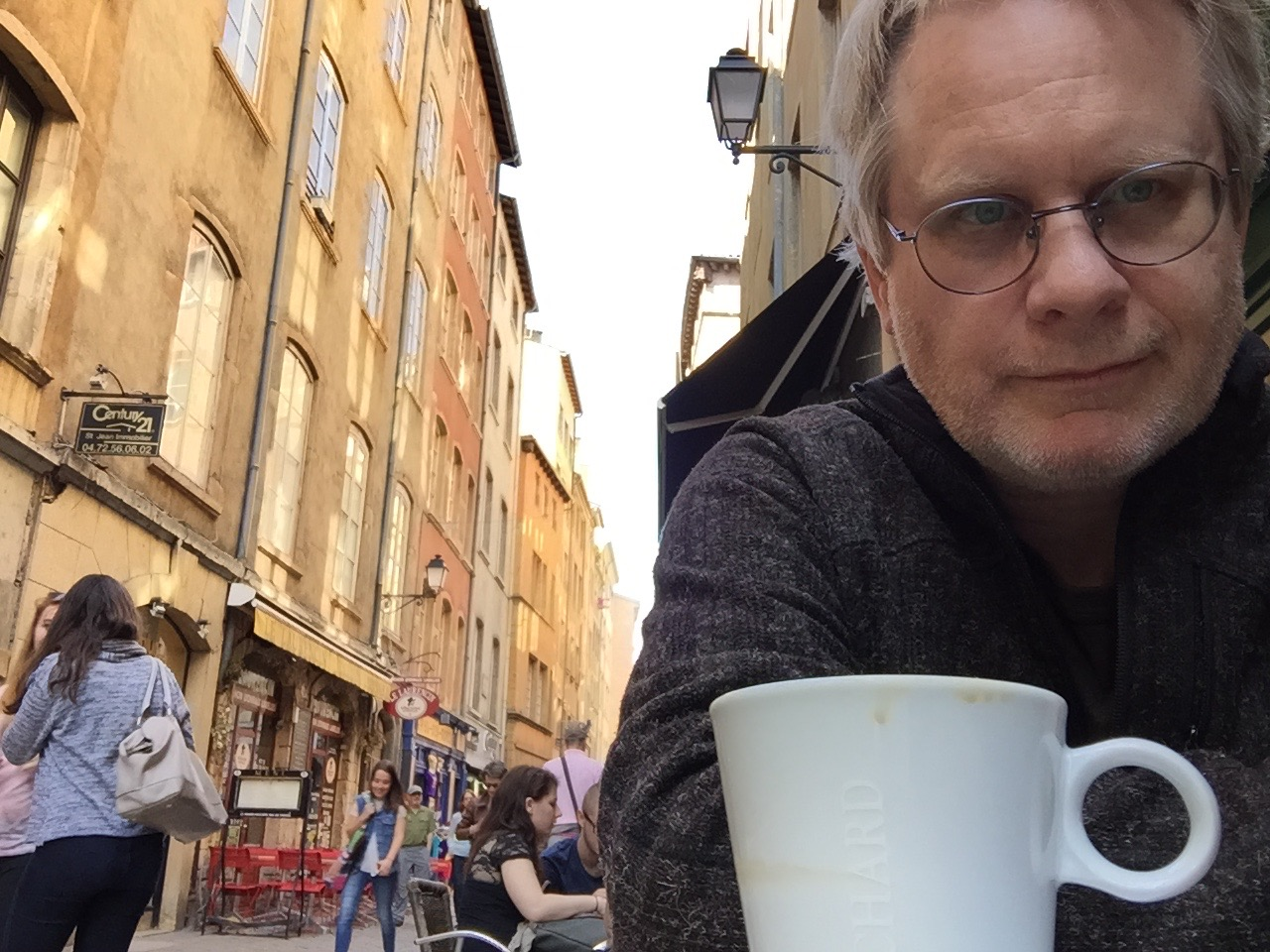 With Ruby in the old town of Lyon, 2015.
