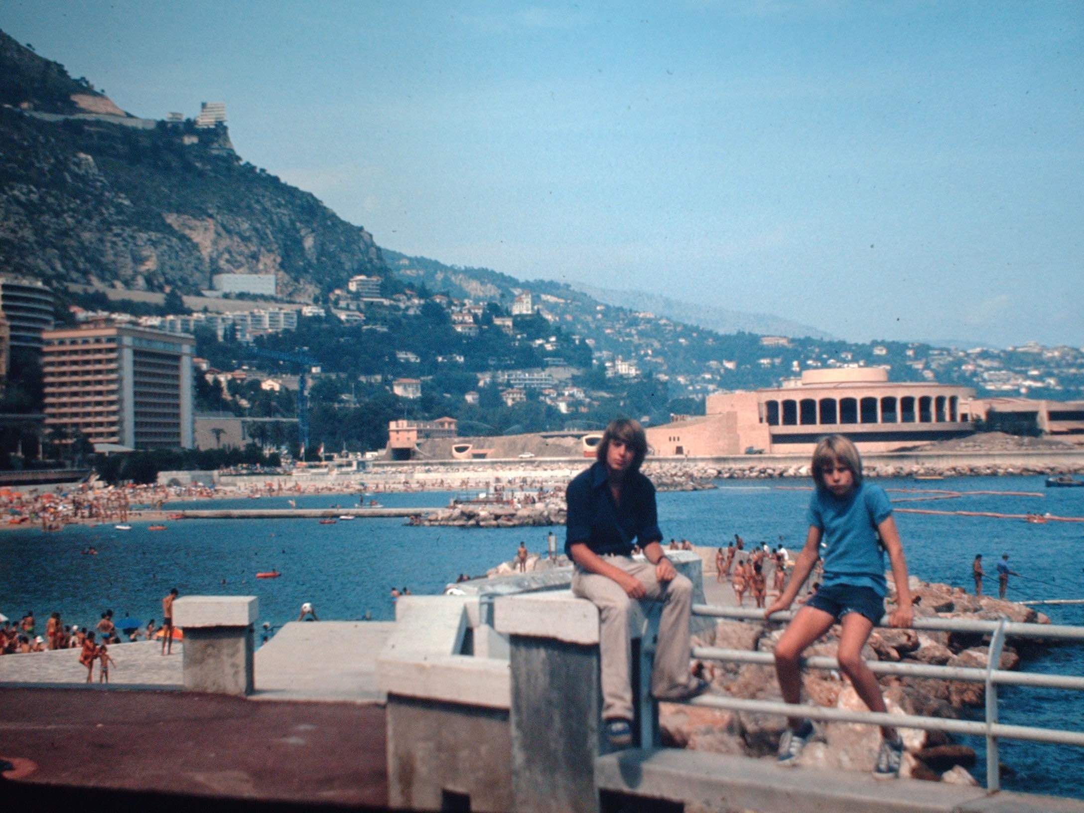 With Allan on the French Riviera, 1974. Right: a psychedelic version of the Exotic Garden in Monaco