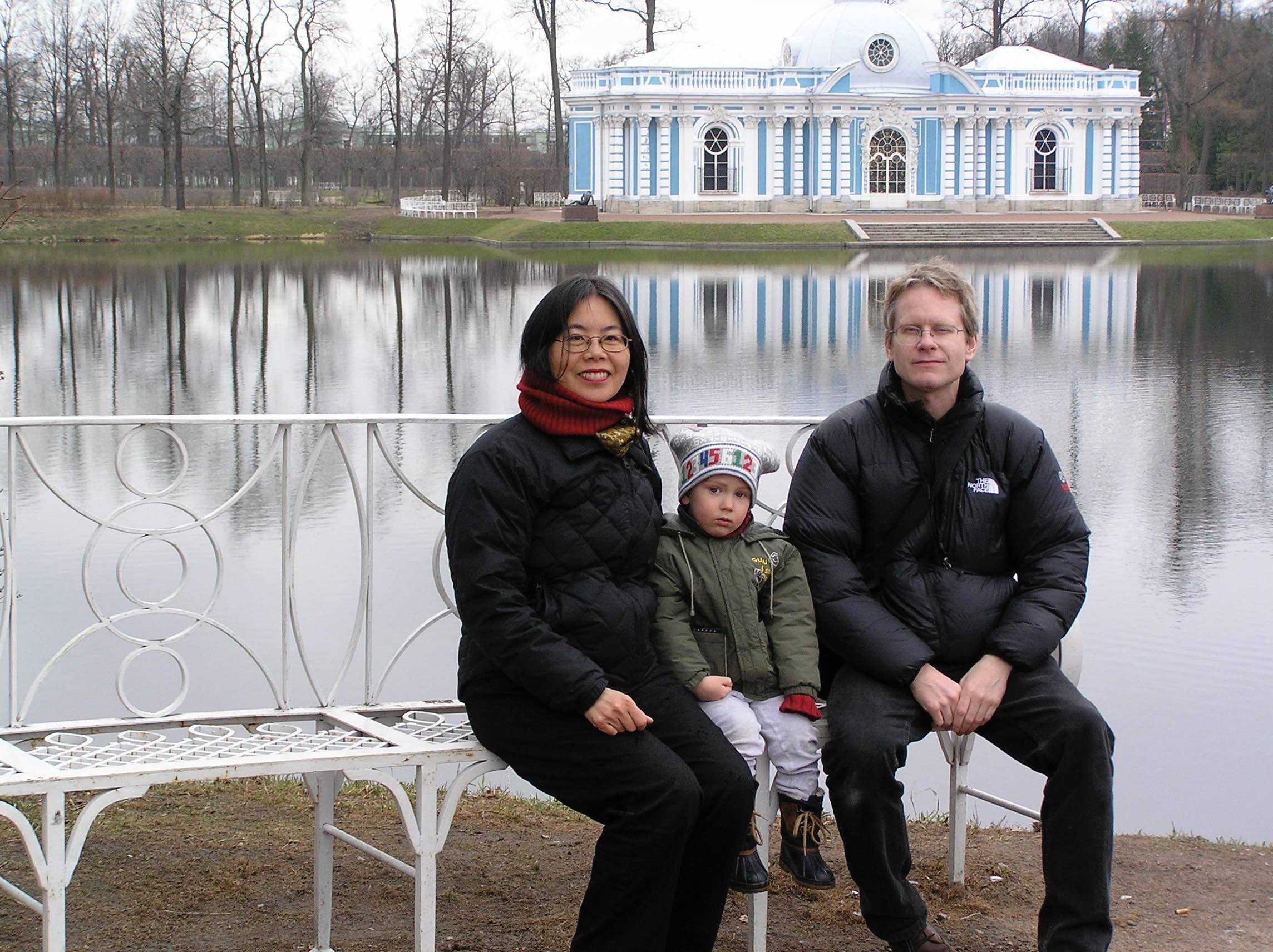 With Ian and Marina's son Max, in St. Petersburg, 2005.