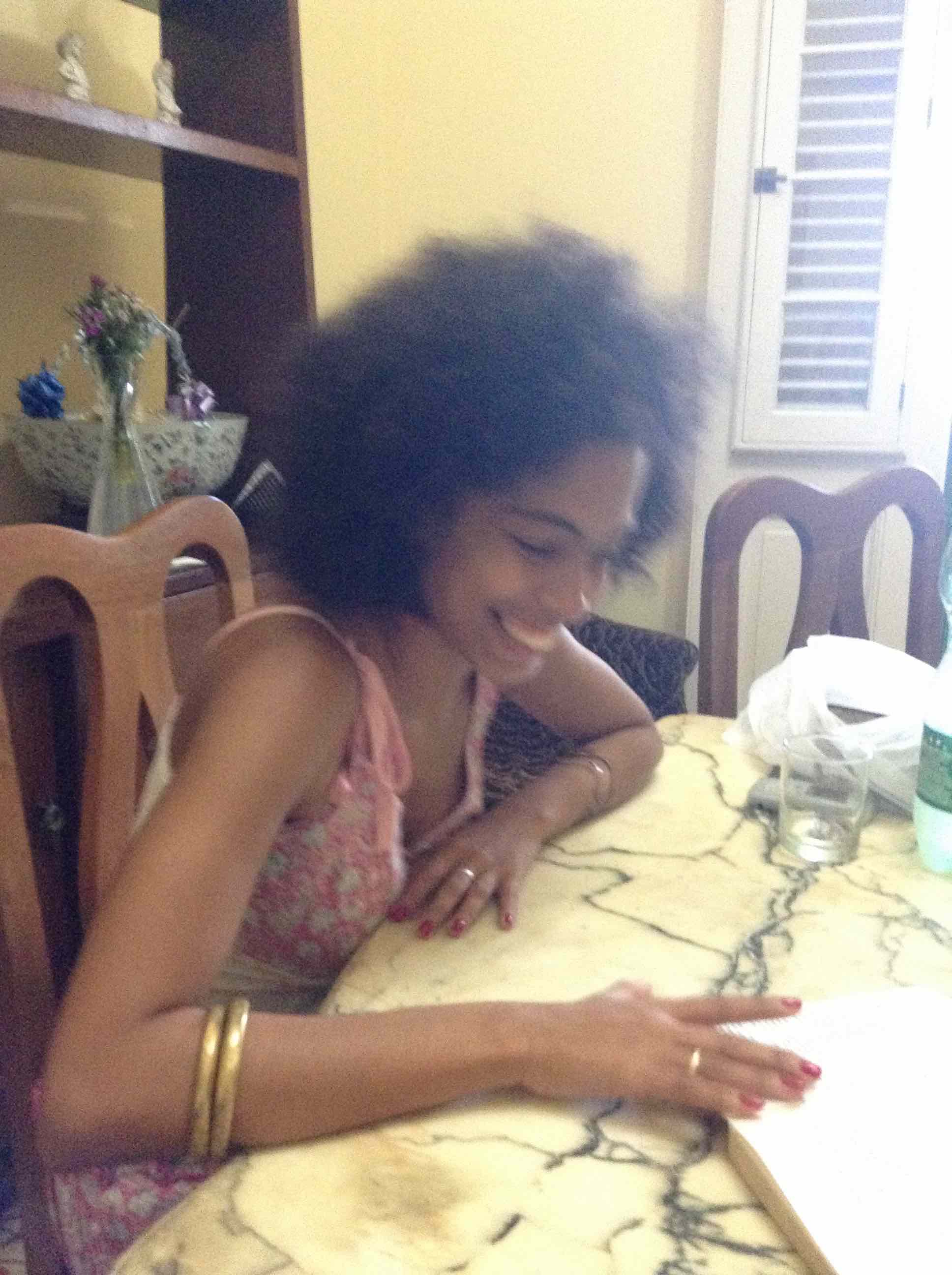 One of our Spanish tutors in Vedado, Cuba, where we rented a room for several weeks in 2014.