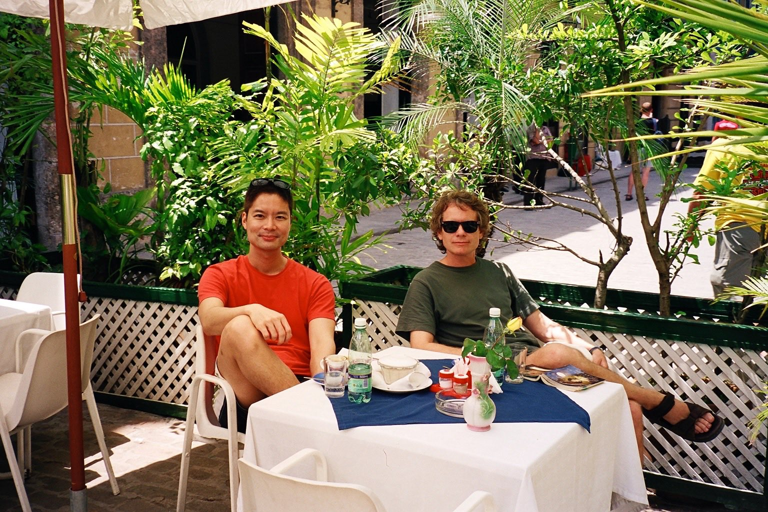 With Greg in the old town of Havana, 2004.