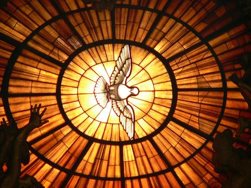 Alabaster window from Cathedra Petri (1647-53), Bernini, St. Peter's Basilica, Vatican.