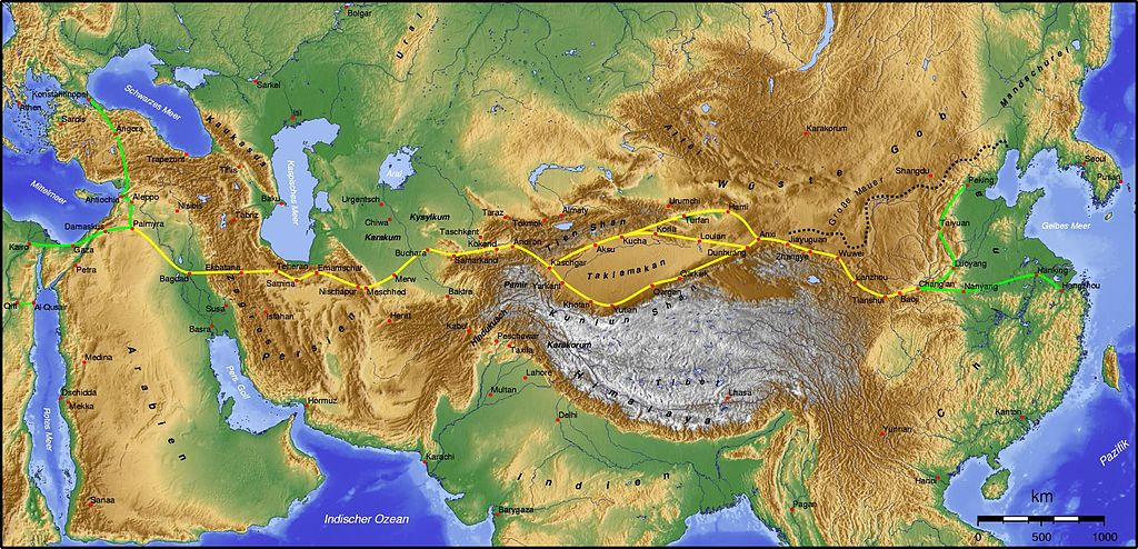 The Silk Road (from Wikipedia)
