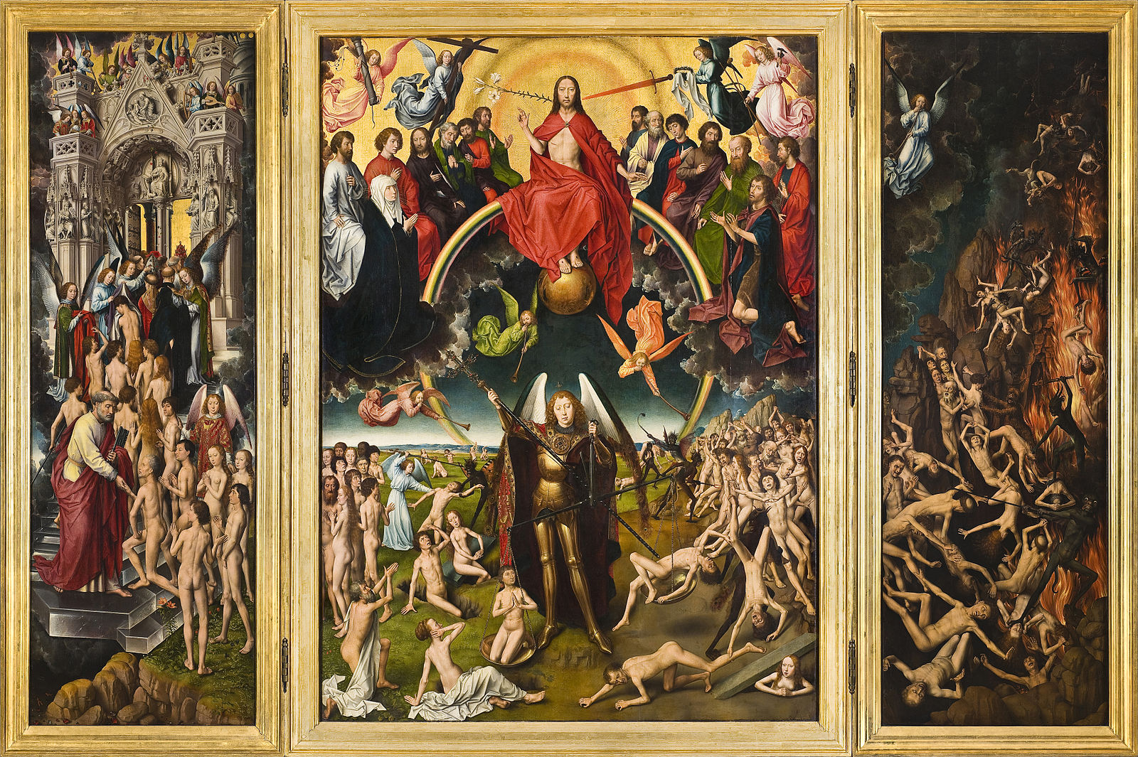 The Last Judgment , Hans Memling, 15th C. (Wikimedia Commons)
