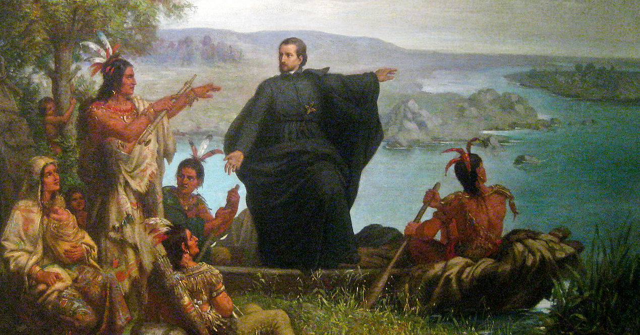 Père Marquette and the Indians , 1869, by Wilhelm Lamprecht (Wikimedia Commons)
