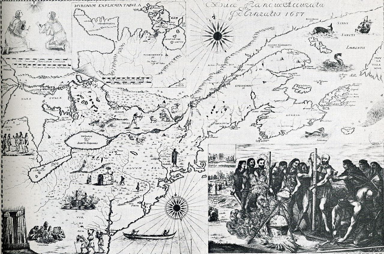 From Wikimedia Commons: Carte de Nouvelle France, Jésuites, 1657  Novae Franciae accurata delineatio , Bressani, Francesco Giuseppe (1612-1672),1657