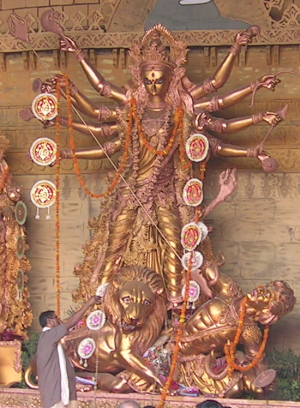 Goddess  Durga  is seen as the supreme mother goddess by Hindus