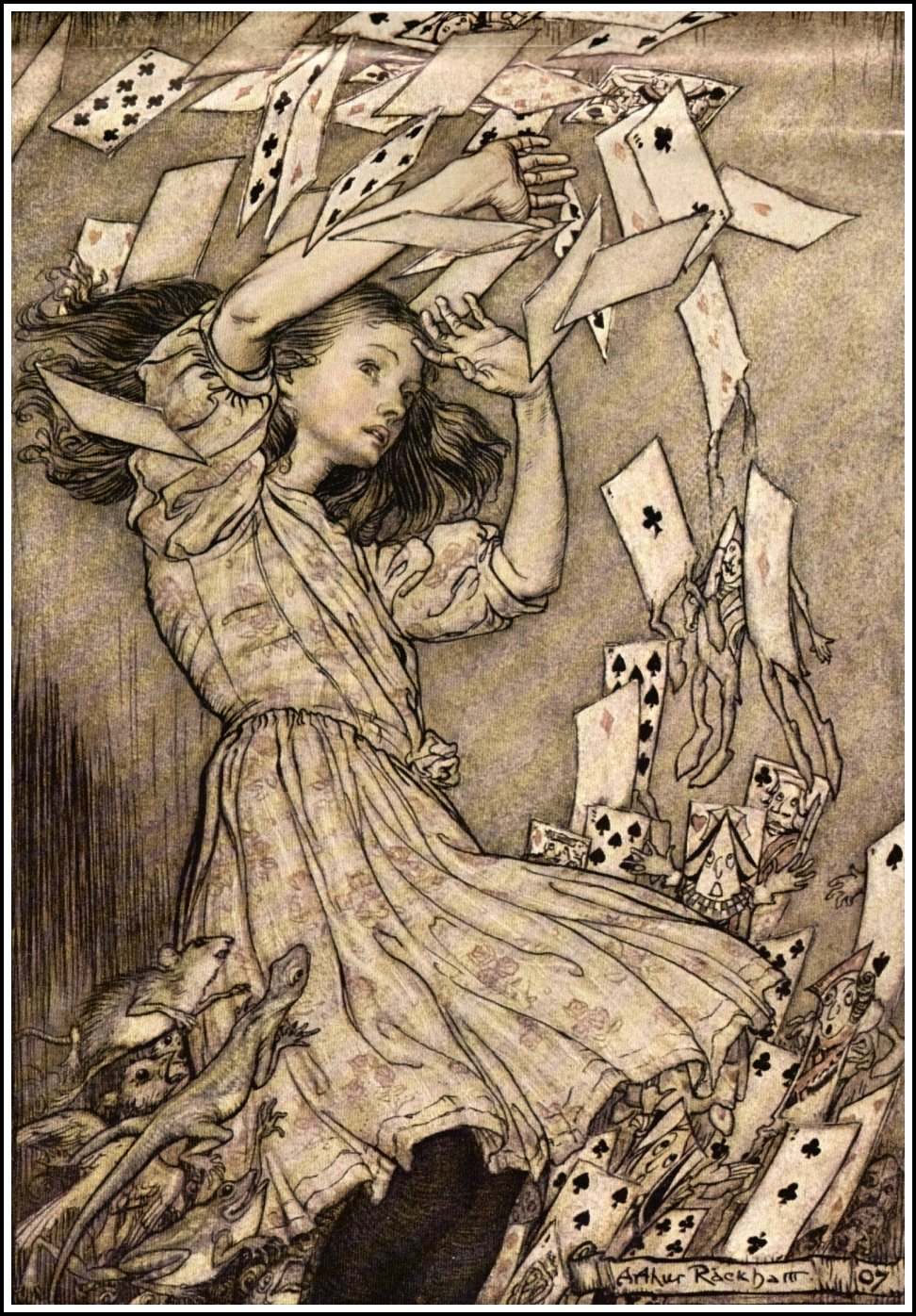 Alice_in_Wonderland_by_Arthur_Rackham_-_15_-_At_this_the_whole_pack_rose_up_into_the_air_and_came_flying_down_upon_her.jpg