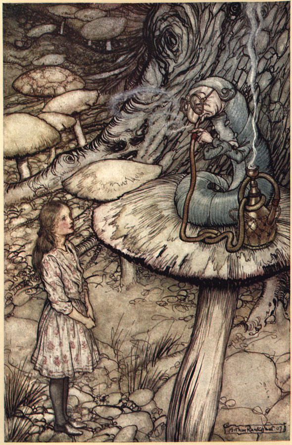 Arthur Rackham's 1907 illustrations of  Alice in Wonderland