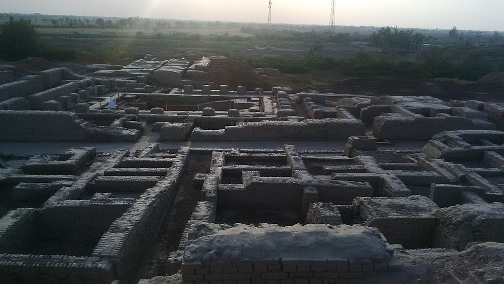 "Mohenjo-daro: ""Regularity of streets and buildings suggests the influence of ancient urban planning in Mohenjo-daro's construction"" -- photo by Gaffer772, Wikimedia Commons"