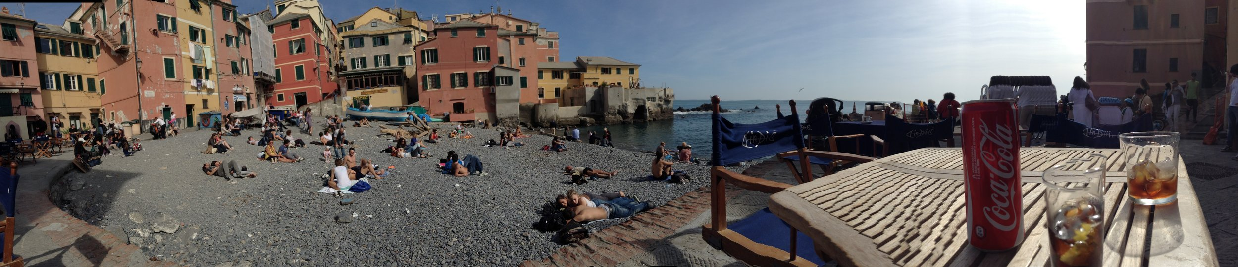 Boccadasse, on the eastern side of Genoa