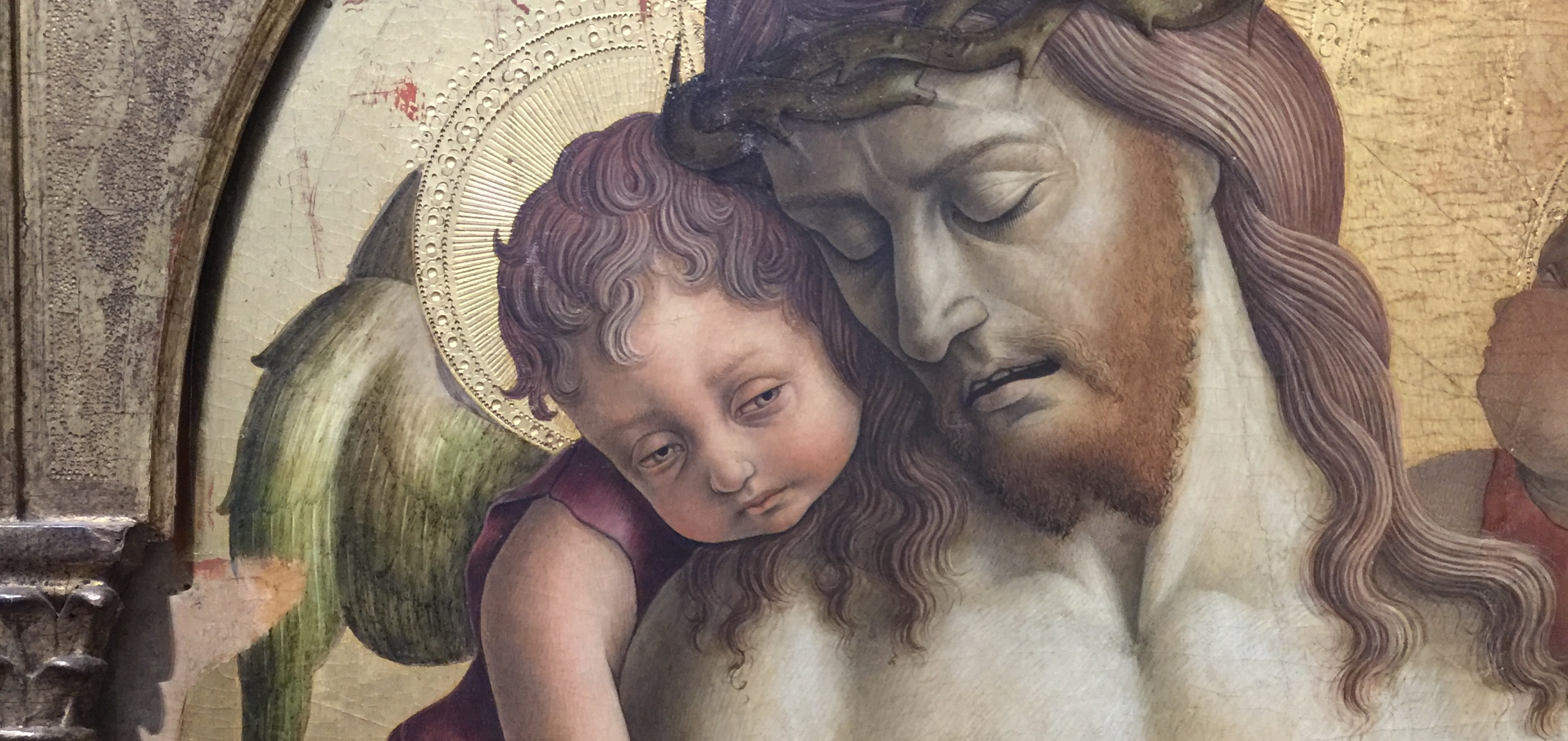 The Dead Christ Supported by Two Angels , c. 1470-5, by Carlo Crivelli (from the National Portrait Gallery, London, photo RYC)