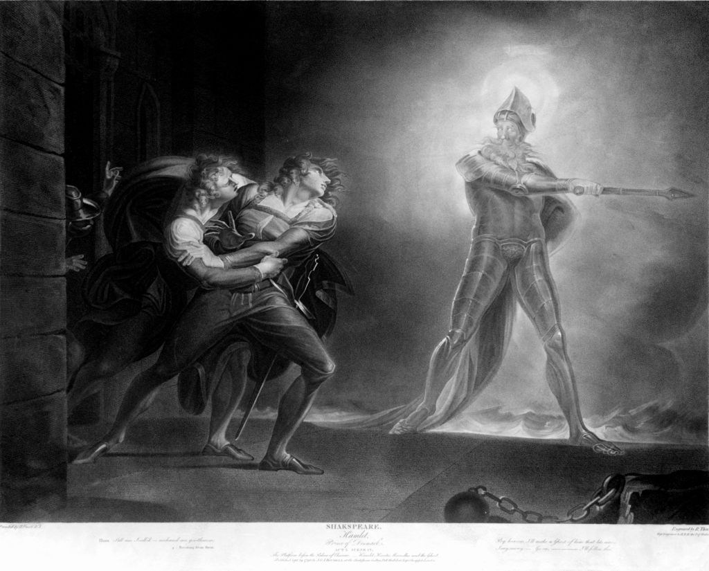 Horatio, Hamlet, and the ghost (Artist: Henry Fuseli, 1789)