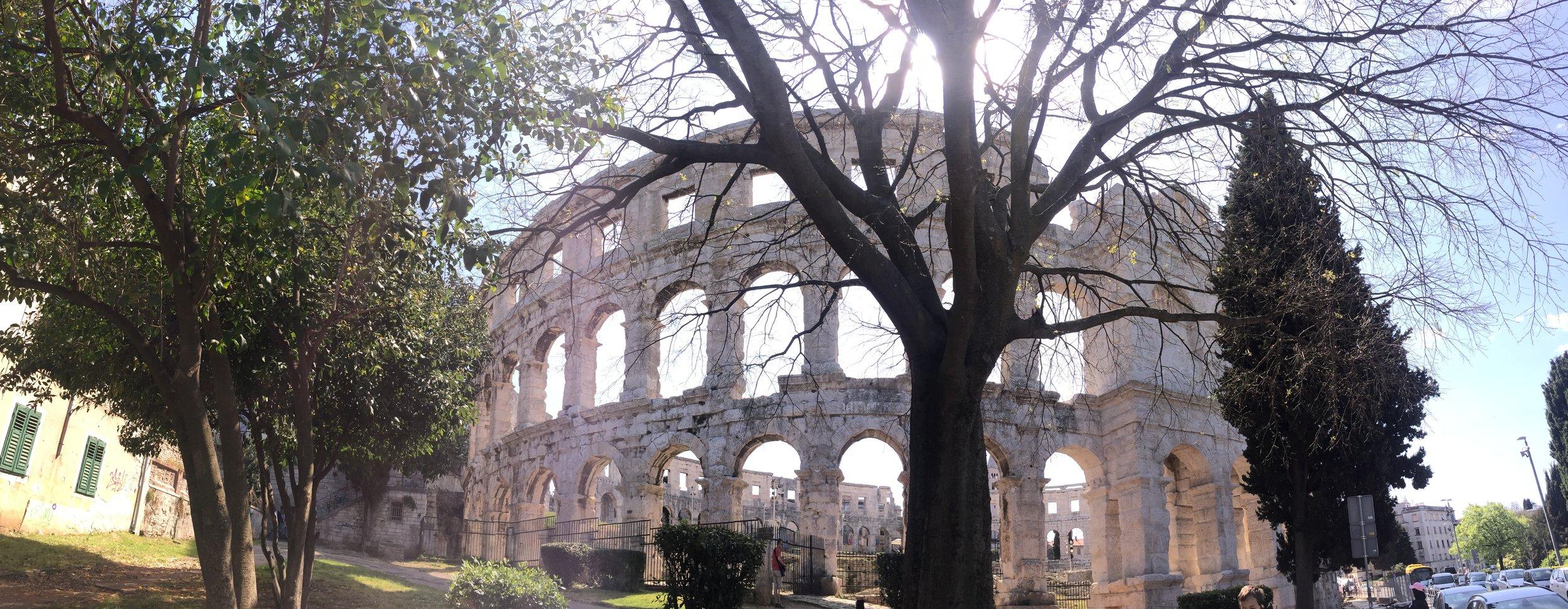 Roman amphitheatre, built 27 BC - 68 AD