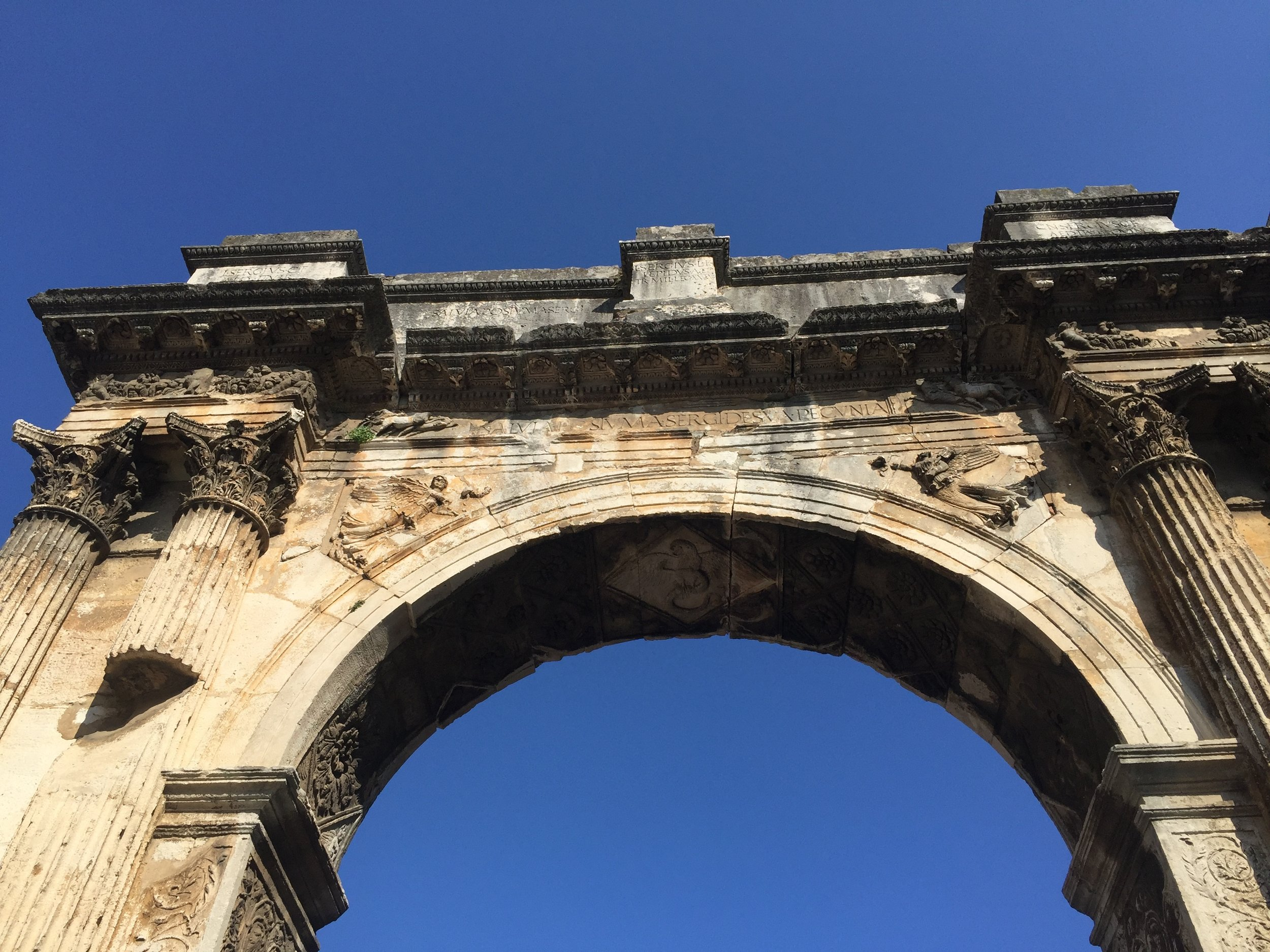 Roman Arch of the Sergeii, built c. 29-27 BC.