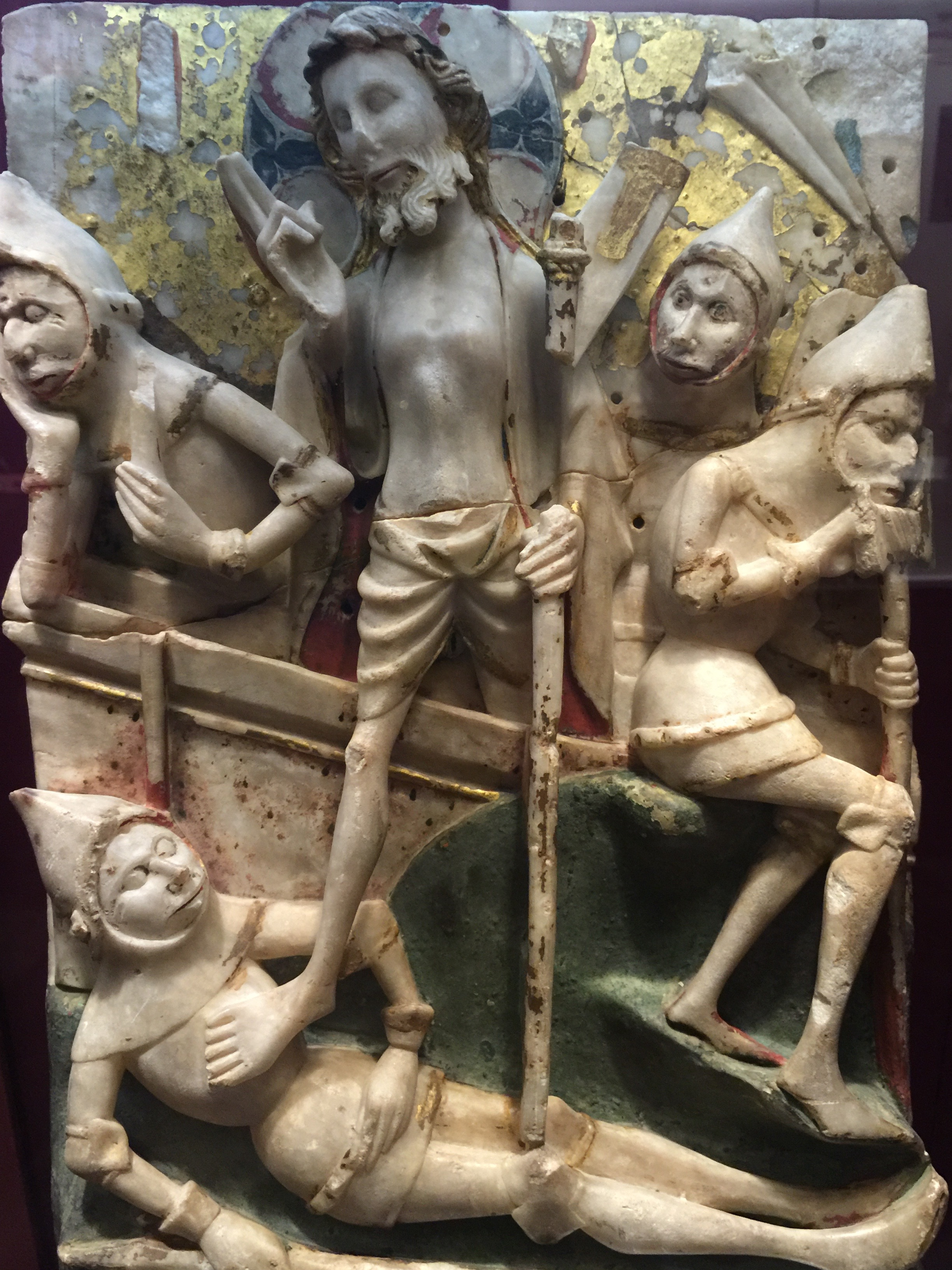 An English alabaster carving depicting the resurrection (15th C.)