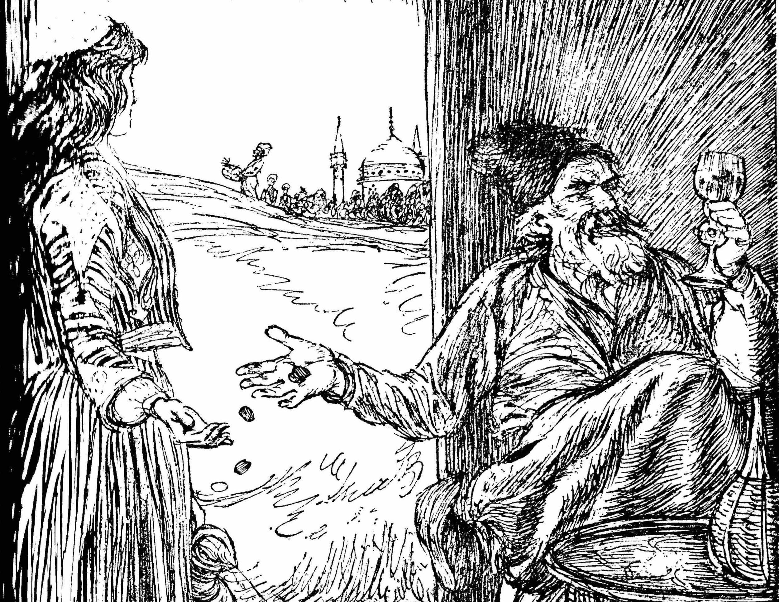Illustrations for Khayyam's  Ruba'iyat , by Edmund Sullivan, 1913