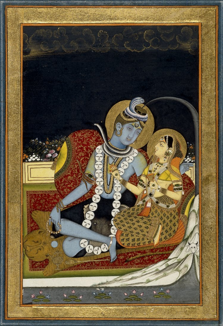 6_Śiva_and_Pārvatī_seated_on_a_terrace._1800_(circa)_BM.jpg