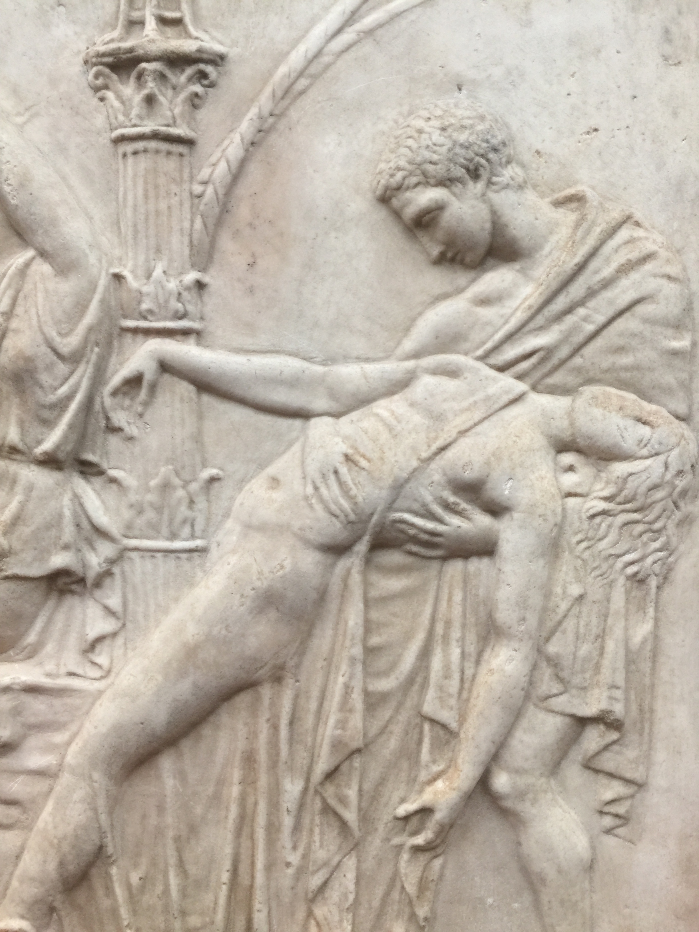 Relief with Dionysiac Scene , in marble, from the first half of the 1st Century AD, Uffizi Gallery