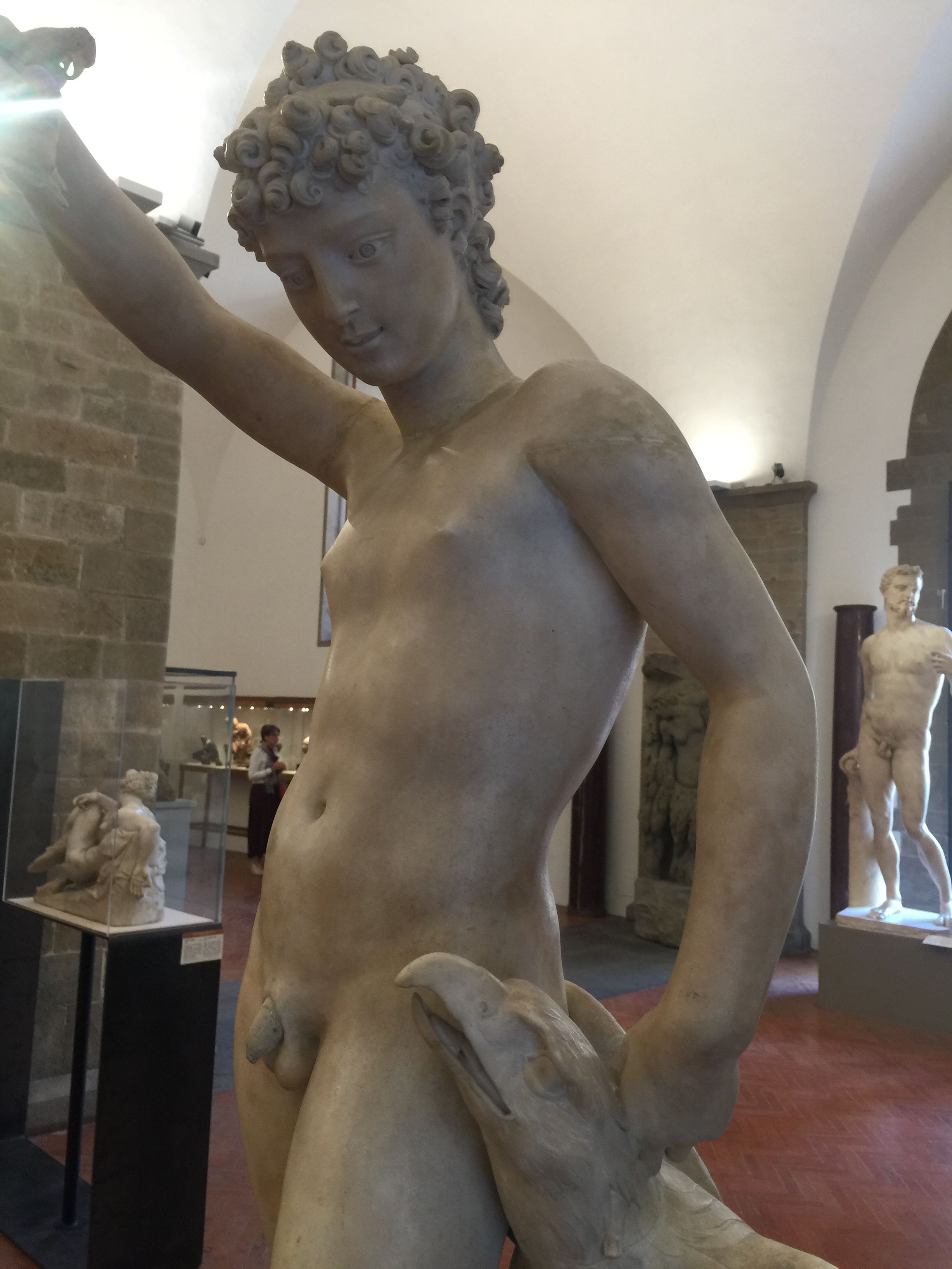 Ganymede , 1548-1550, remake of an antique torso in marble, by Benvenuto Cellini, Bargello Museum