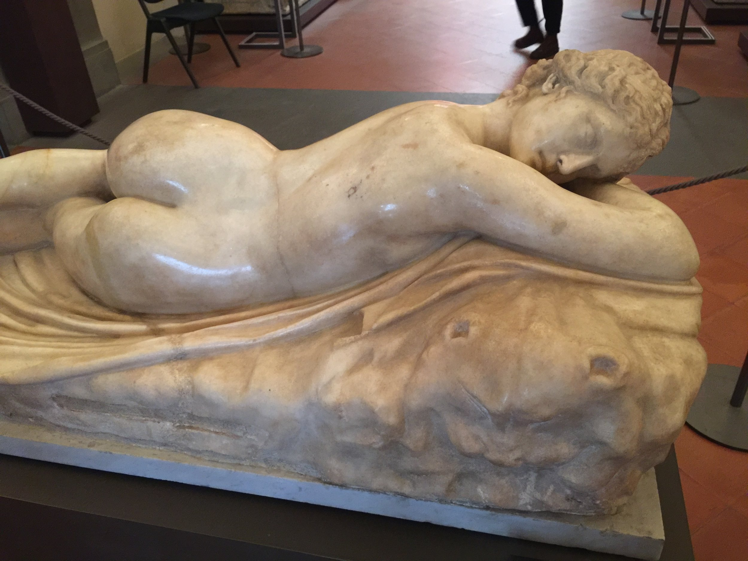 Hermaphrodite , in Parian marble, 1st-2nd Century AD, Uffizi Gallery