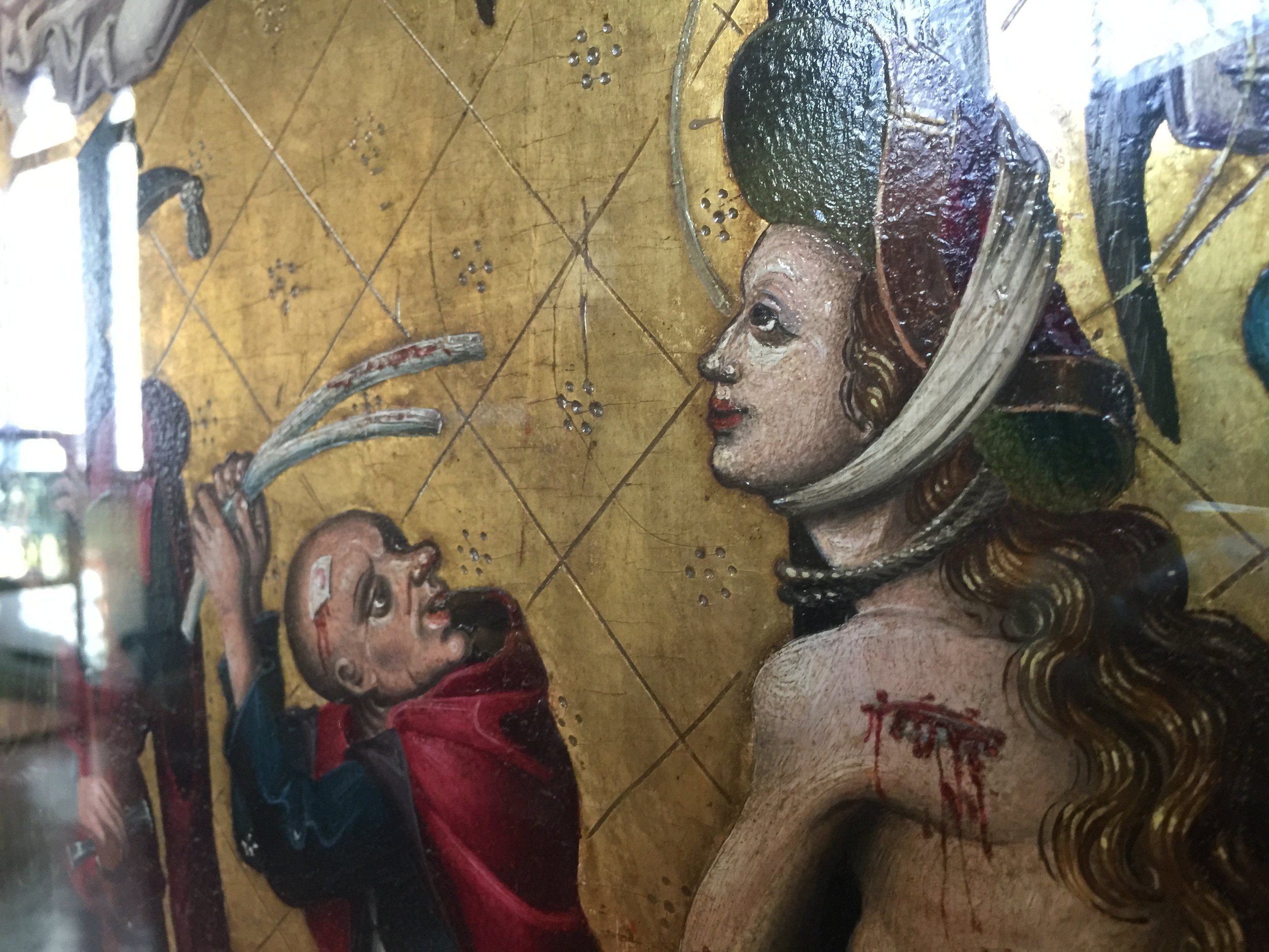Martyrdom of Saint Catherine , Tyrolean School, end of 15th Century, Bargello Museum