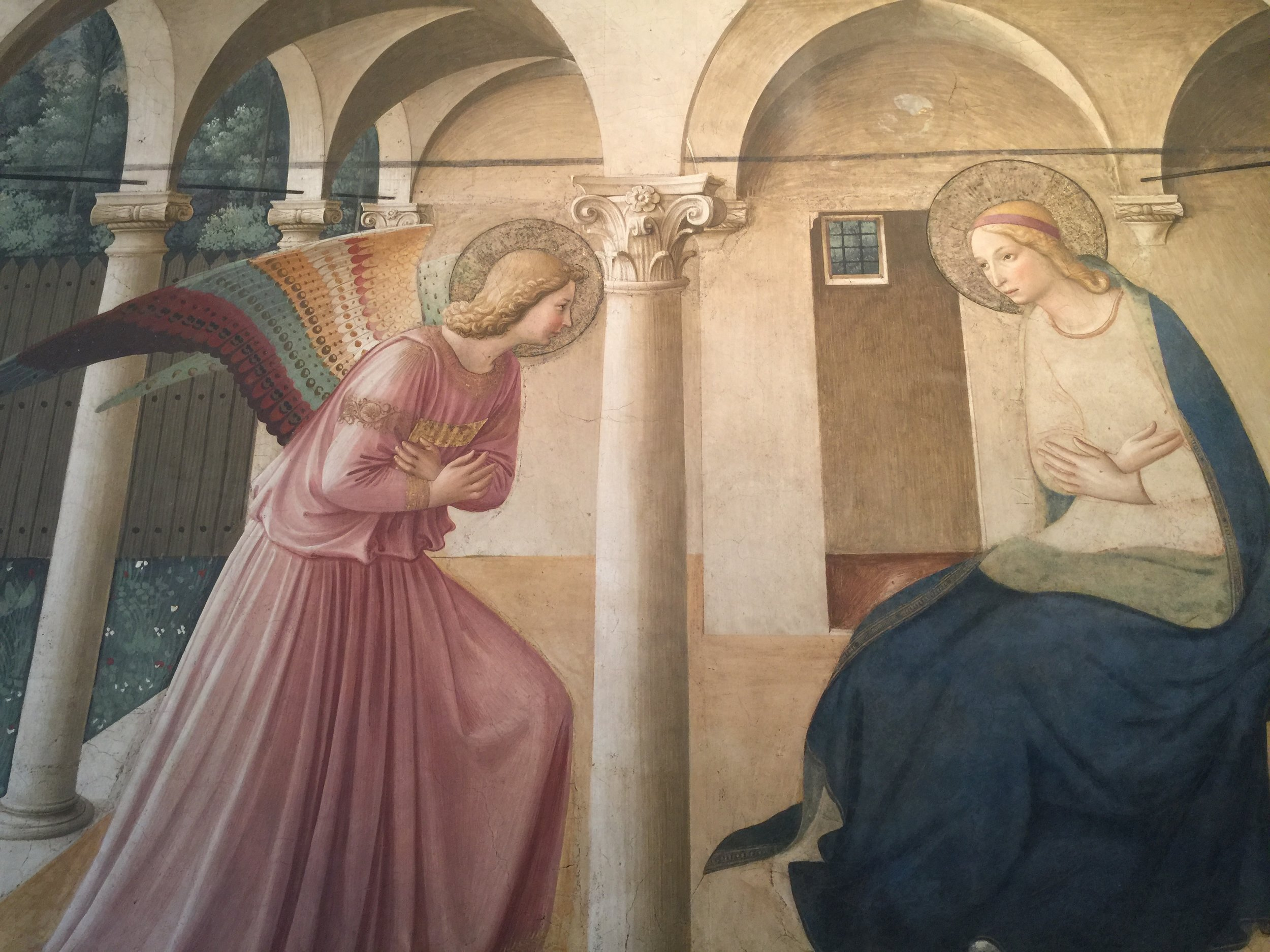 Convent of Saint Mark, where Fra Angelico (Giovani Fiesole) painted frescoes on the walls between 1439 and 1444.