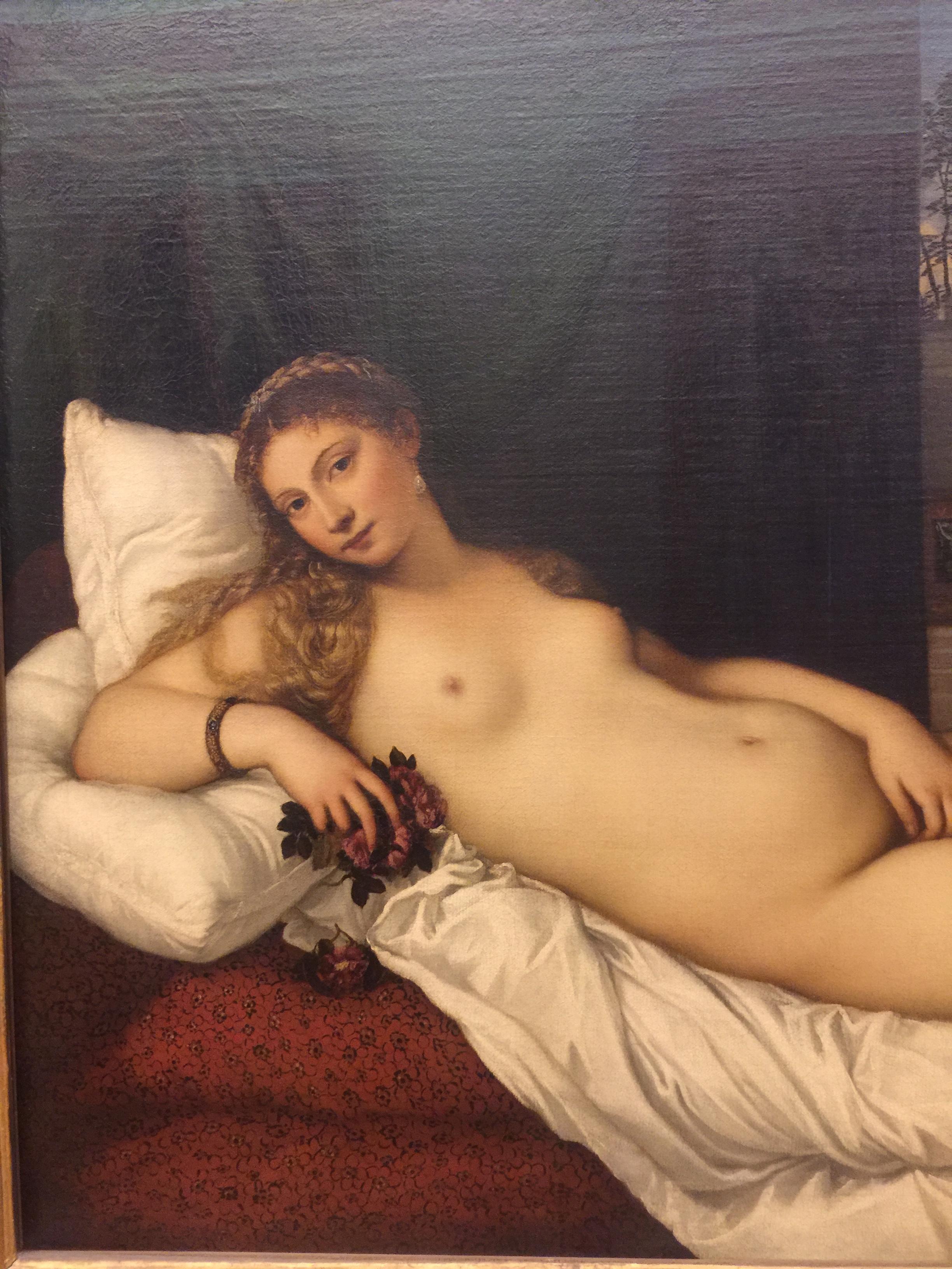 Venus of Urbino , 1437, Tiziano Veccelio, Uffizi Gallery