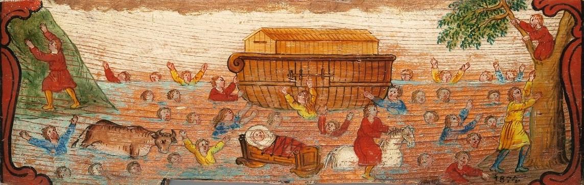 Noah's Ark, by Leopold Layer (1752–1828),  Slovenščina:  Vesoljni potop in Noetova barka. From Wikimedia Commons.