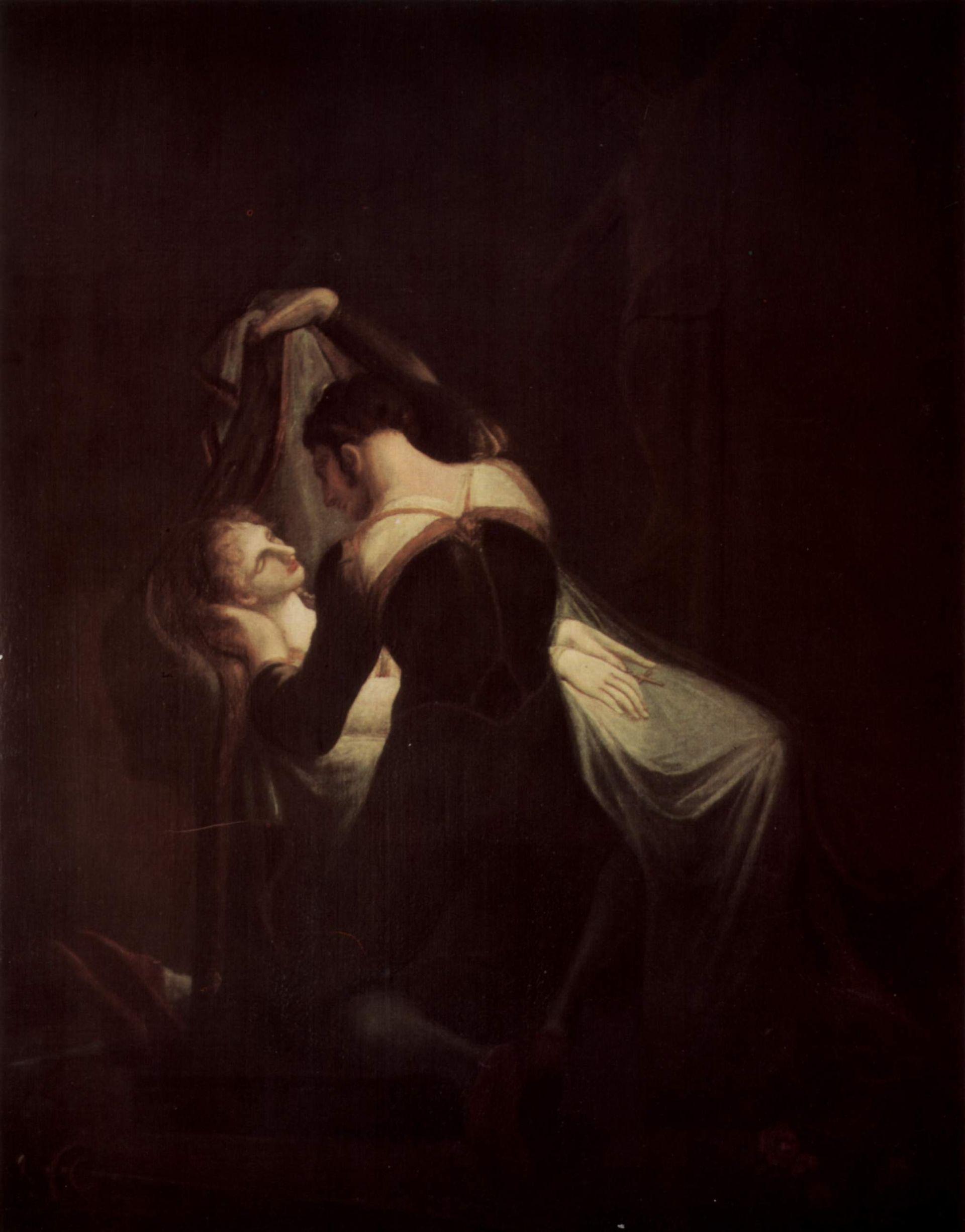 Juliet , 1898 (John William Waterhouse),  Romeo at Juliet's Deathbed , 1809 (Johann Heinrich Füssli); both from Wikimedia Commons