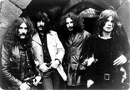 Jimi Hendrix and Black Sabbath (Wikimedia Commons)