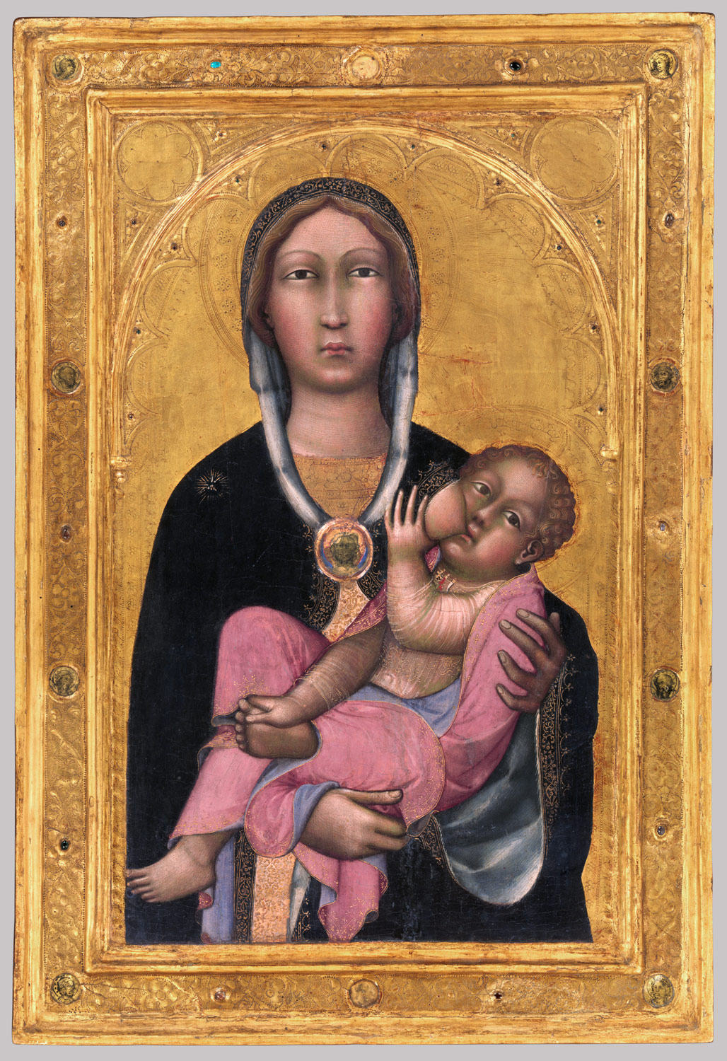 Madonna and Child, by Paolo di Giovanni Fei, c.1370s, from  https://www.metmuseum.org/toah/works-of-art/41.190.13/