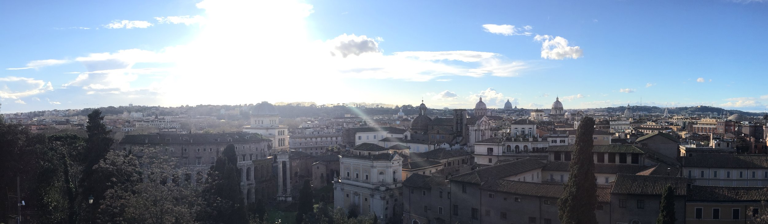 A view of Rome from the Capitoline Hill (photo RYC)