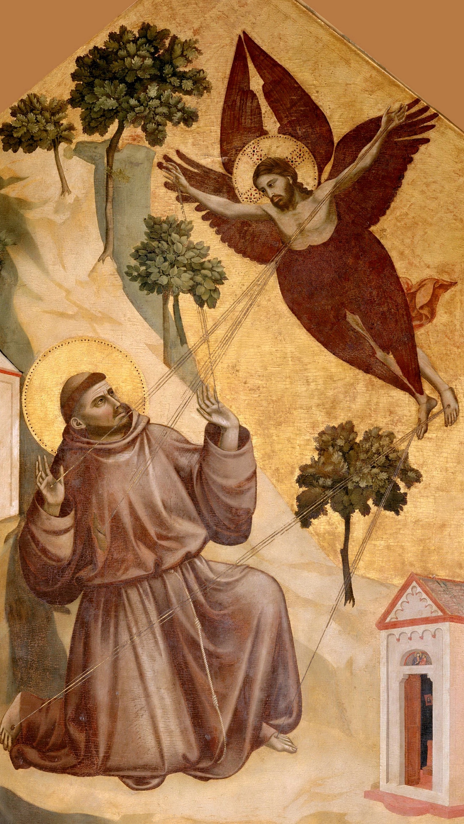 The Stigmatization of St.Francis , Giotto, 1295-1300. Louvre, Wikimedia Commons.