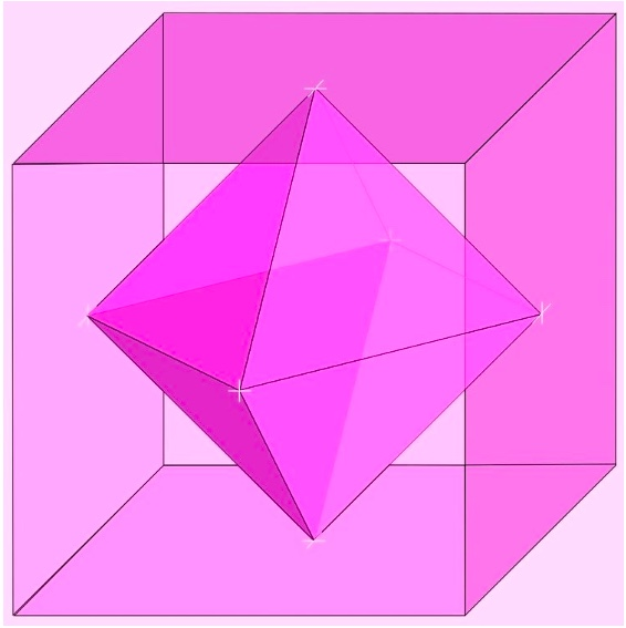 Dual cube & octahedron. By 4C — coloured by RYC (Wikimedia Commons)