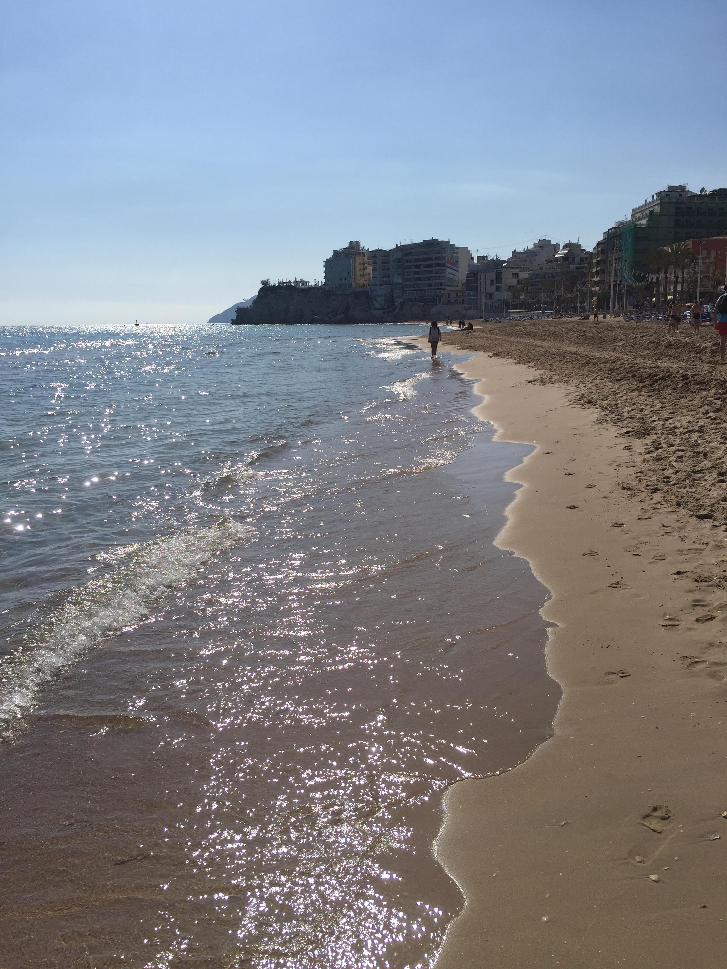 The beach at Benidorm, not far from Alicante