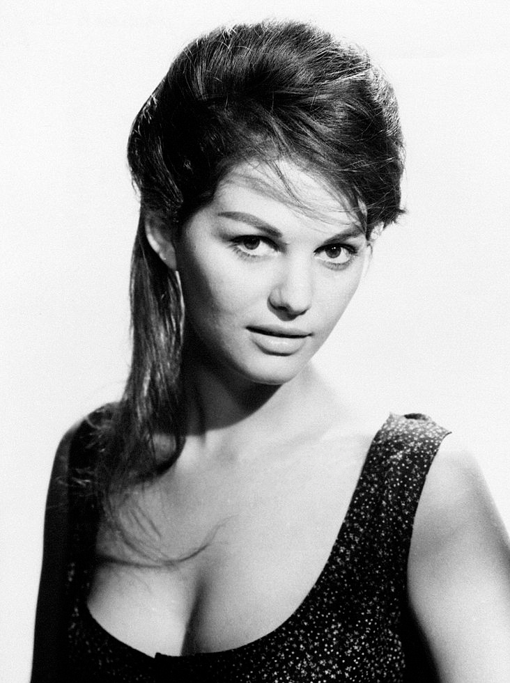 Claudia Cardinale, guest of the Italian TV show Teatro 10, Rome, 7 March 1971, Radiocorriere, XLVIII, n. 10 / Claudia Cardinale, 1960 (both from Wikimedia Commons)
