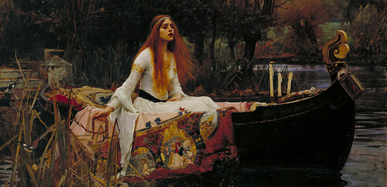 The Lady of Shalott, by John Waterhouse, 1888.  Google Art Project . Cropped by RYC, from Wikimedia Commons.