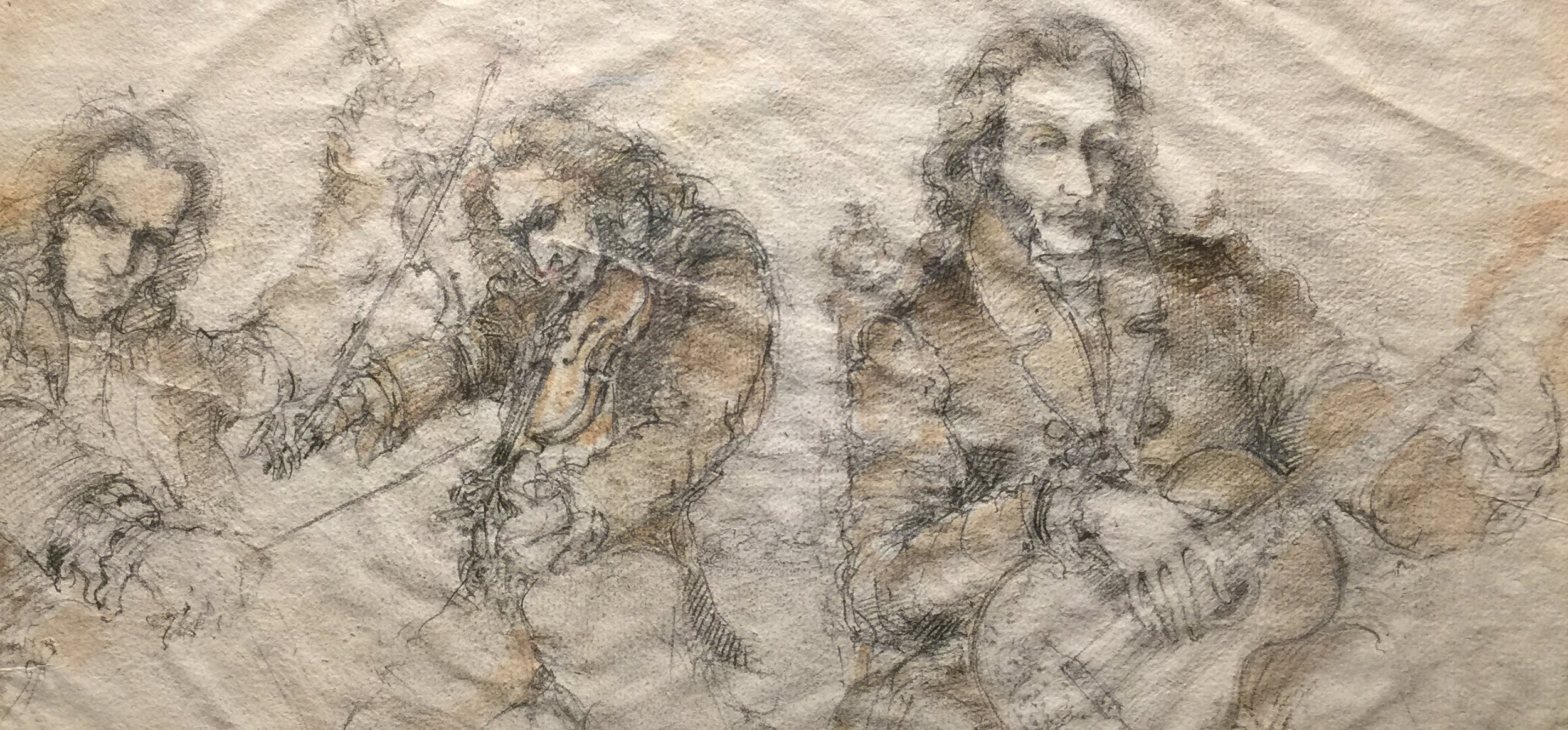 Paganini - anonymous drawing c. 1820, from the Palazzo Doria-Tursi, Genoa (photo RYC)