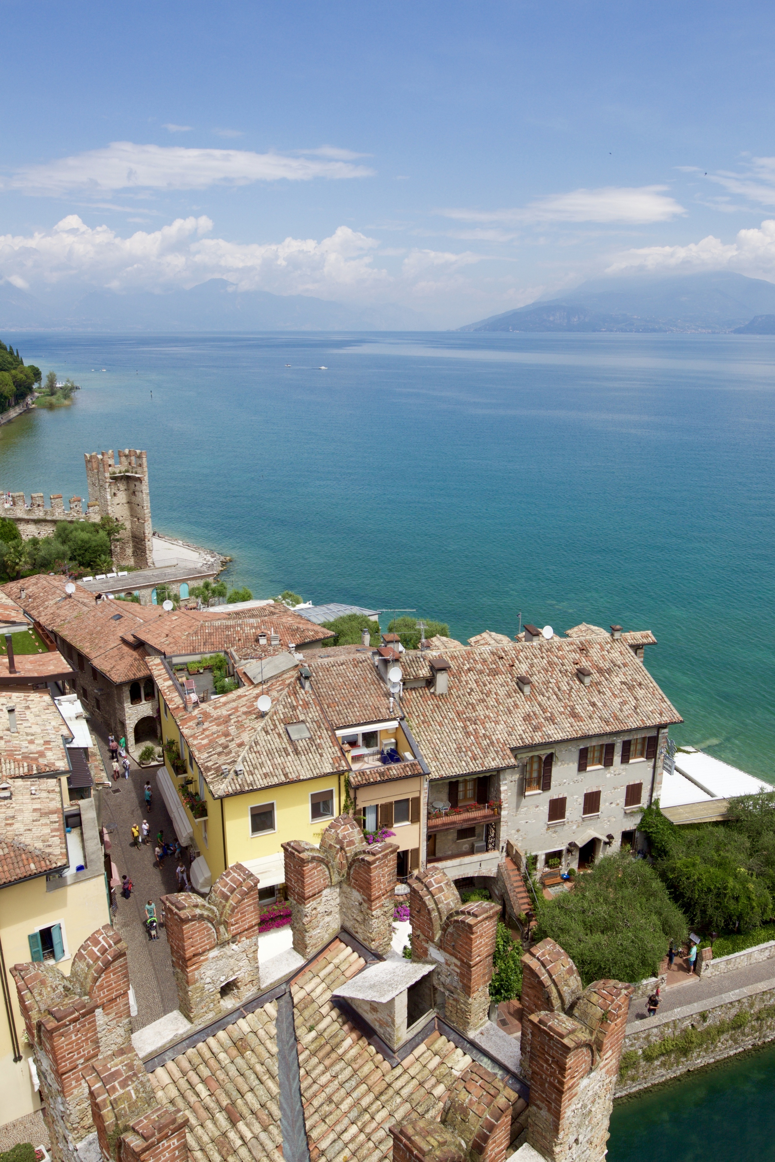 The view from the top of Castello Scaligera