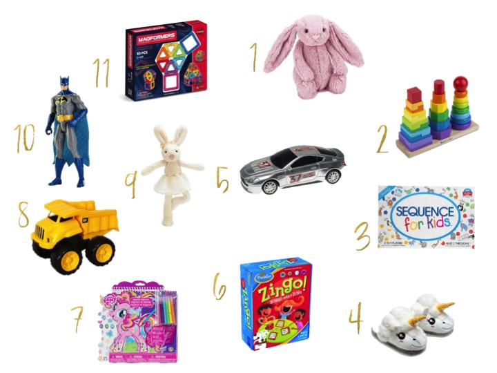 amazon gifts, jelly cat, bingo game, batman, sequence, gifts