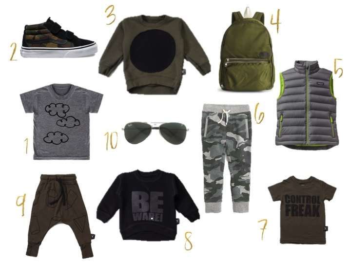 nununu pants, cameo vans, avaitor glasses for kids